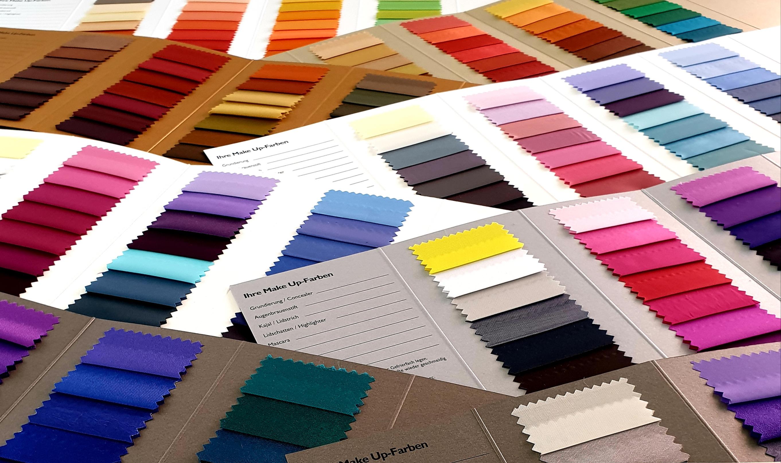 Farbberatung, Empfehlung für Make-up, individuelle Farbpass
